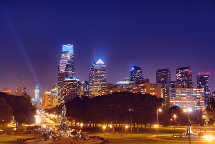Center City Philadelphia:  Night Skyline